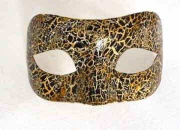 Genuine Venetian Exclusive Crackle Eye Mask  (1) g